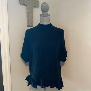 Kate Spade mock neck short sleeve lightweight knit